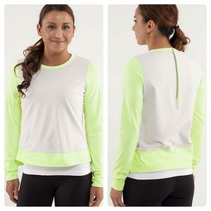 🆕Lululemon Warm Up Crew Top Dune/ Faded Zap 4